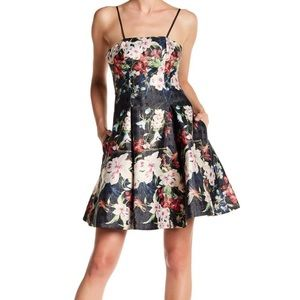 Nicole Miller NY Floral Fit & Flare Mini Dress
